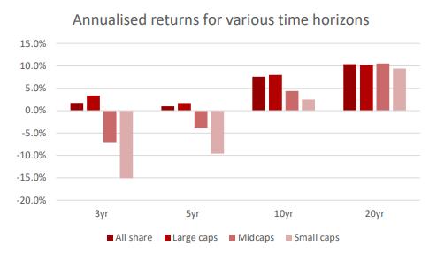 Annualised Returns Ashburton Mid Cap 2020