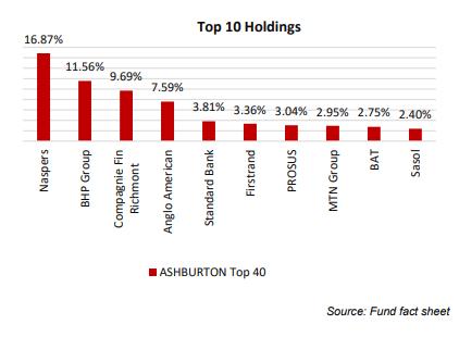 Ashburton Top 40 Top 10 Holdings