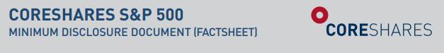 CoreShares S&P 500 Facsheet