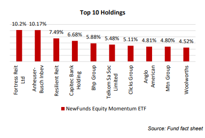 NewFunds Momentum Top Holdings