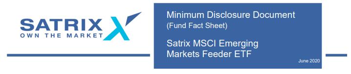 Satrix 2020 Factsheets Emerging Markets ETF