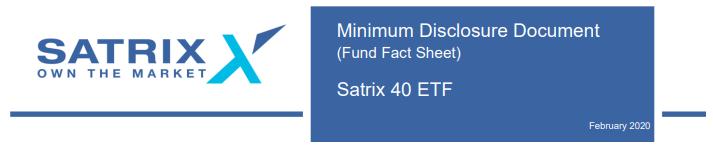 Satrix 40 Fact sheet 2020