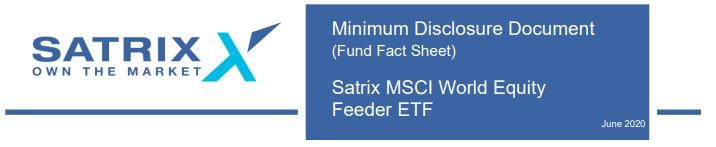 Satrix MSCI WOrld ETF factsheet 2020