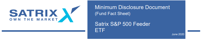 Satrix S&P 500 Factsheet June 2020