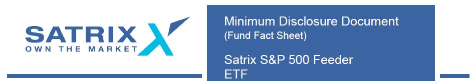 Satrix S&P 500 MDD