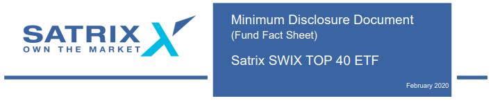 Satrix Swix 40 Factsheet 2020